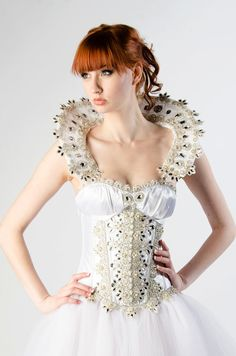 Custom Snow Queen Crystal Corset Wedding by MilaHoffmanCouture, $2500.00