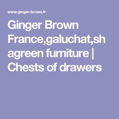 Ginger Brown France,galuchat,shagreen furniture | Chests of drawers