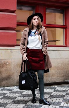 The perfect winter outfit, featuring great colorful pieces by Ksenia Schnaider, Bullboxer, Herschel Supply Co., and more - only at www.MarinaSays.com