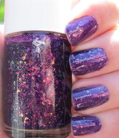 Invitation to Endless Wonder. Custom Purple Nail Polish With Glitter Flakies and Shimmer.. $11.00, via Etsy.