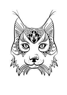 Coloriage animaux Lynx