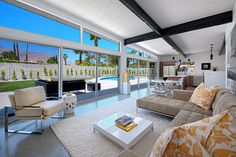 Living Room By House U0026 Homes Palm Springs. Features The W114 CH Michael  Weiss