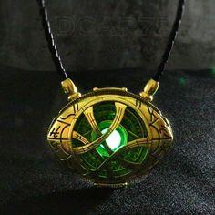 Doctor Strange Necklace Glow in Dark Eye Shape Antique Bronze Pendant