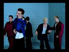 """""""I Drive Myself Crazy"""" - N'Sync  '99 - they gave Chris solo lines! lol at JC leaping"""
