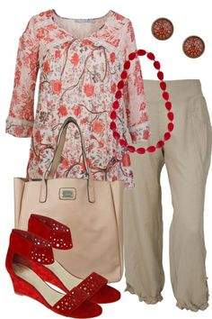 Centre Stage Orientique blouse dressed with trousers at Birdy Boutique