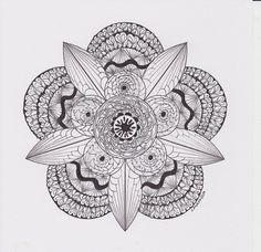 Zentangle/Zendala Lover: januari 2013  - #DRAW #ZENTANGLE #ZENDALA #TANGLE #DOODLE #BLACKWHITE #BLACKANDWHITE #SCHWARZWEISS