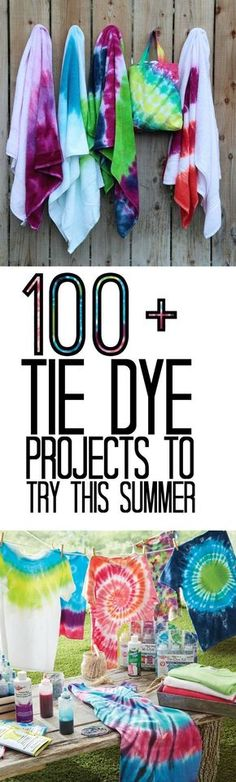 Looking for a great craft for the whole family to do this summer? Try tie dye! With all kinds of tie dye projects you will be dyeing everything this summer! Pin now read later for fun summer activities!