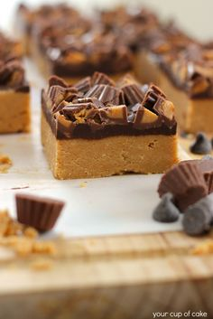 No Bake Peanut Butter Chocolate Bars - Your Cup of Cake