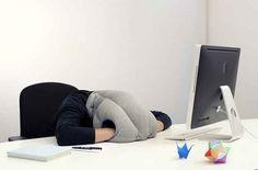 A nap-anywhere pillow.
