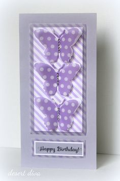 desert diva: A tall card for CASual Friday # 86 Fun Fold Cards, Folded Cards, Birthday Cards For Women, Bday Cards, Diy Birthday, Happy Birthday, Card Making Techniques, Butterfly Cards, Card Maker