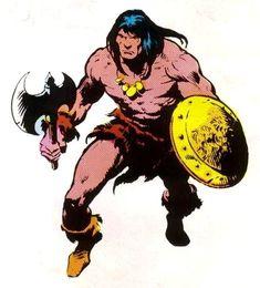 Marvel Comics, Conan Comics, Marvel Comic Universe, Marvel Heroes, Comic Book Artists, Comic Books Art, Comic Art, Fantasy Warrior, Fantasy Art