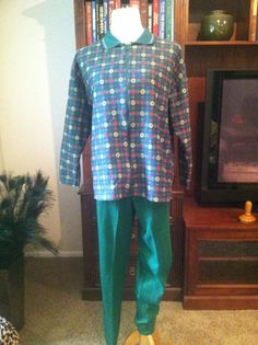 Vintage Ugly Christmas Green Leisure Pant Suit by by pdee5069, $9.49
