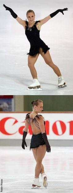 Black figure skating inspiration for Sk8 Gr8 Designs