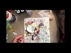 Mixed media layout tutorial by Ayeeda - YouTube