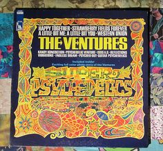 The Ventures Super Psychedelics (1967, Rock  LP Vinyl Record)$20 Music Covers, Album Covers, Lp Vinyl, Vinyl Records, The Ventures, Lp Cover, Happy Together, Cover Design, Psychedelic