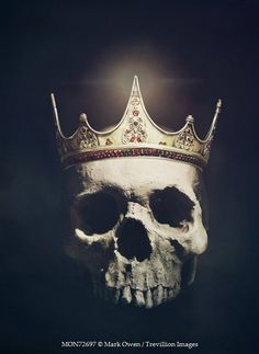Mark Owen HUMAN SKULL WEARING GOLD CROWN Miscellaneous Objects