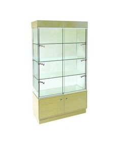 1000mm x 400mm Wooden Glass and Storage Display Cabinet-R5301-31