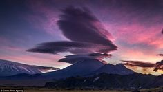 Clouds such as this one in Kamchatka, Russia, are thought to be responsible for many mistaken UFO sightings throughout history