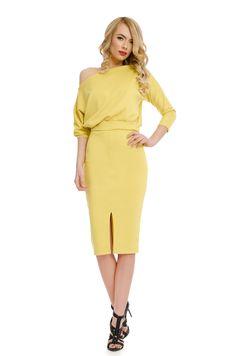 Order here www. Yellow Dress, Peplum Dress, Dresses, Fashion, Vestidos, Moda, Yellow Gown, Fashion Styles, Dress