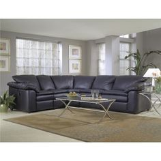 Klaussner Legacy Left Arm Reclining Love Seat and Sleeper Sofa Sectional