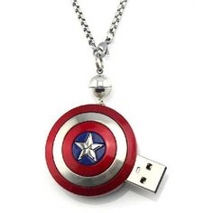 Bring out the superhero in you by using the Captain America shield. You can use a USB flash drive made of Captain America shield and feel awesome about it. To buy this awesome Captain America shield USB, visit ow. Captain America Shield, Chris Evans Captain America, Capt America, Marvel Dc Comics, Marvel Avengers, Avengers Room, Usb Drive, Usb Flash Drive, Star Trek