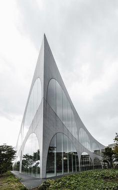 TAMA Art University Library, Hachioji City, Tokyo, Japan by Rasmus Hjortshøj.
