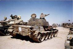 Destruction on Iraqi Type 69-II, Operation Desert Storm.