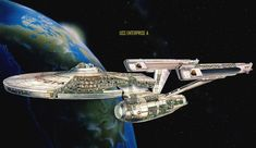 """Star Trek"" Starfleet starship pictures and gifs. Most of the fan-designs on here are not my own (unless noted); source-links are provided with the image whenever possible. Check out the archive or send me a message! Submit your own Star Trek fan designs here: Energize (I also run a tumblr about Battlestar Galactica ships)</ Star Citizen, Star Trek Enterprise Ship, Uss Enterprise, Poster Wall, Poster Prints, Star Trek Tv Series, Aviation Decor, Starfleet Ships, New Star Trek"