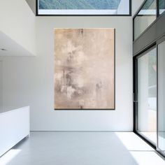 Large Contemporary Original Modern Abstract Wall Decor Painting by... ($220) ❤ liked on Polyvore featuring home, home decor, wall art, rooms, empty rooms, backgrounds, interiors, european paintings and european home decor