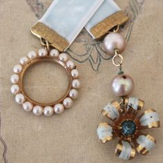 Bookmark made with vintage or mix matched jewelry