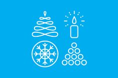 Free winter icon set available on Free Design Resources | design by Hanna Kulmala