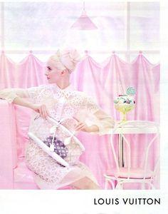 Louis Vuitton pastel candy shop ad