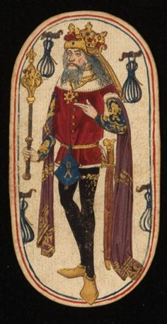 King (3), from the Cloisters set of fifty-two playing cards, ca. 1470–1485