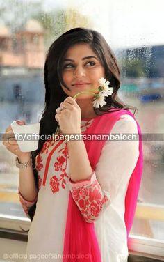 Sanam baloch Pakistani Actress Image, Sanam Baloch Dresses, Dps For Girls, Beauty P, Kurti Styles, Beautiful Suit, Kurti Collection, Celebs, Celebrities