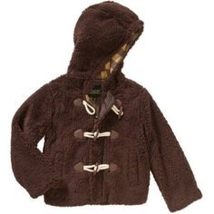 iExtreme Baby Toddler Boys' Toggle Super Plush Sherpa Hooded Jacket, Toddler Boy's, Size: 18 Months, Brown