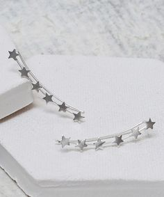Love this Sterling Silver Star Ear Climbers on #zulily! #zulilyfinds