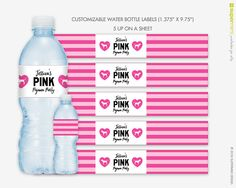 Victorias Secret PINK Themed Stripes Water by SupermimiDesign