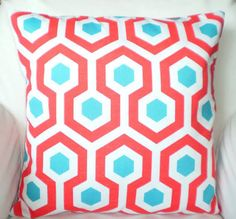 navy white and teal pillows - Google Search