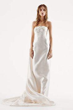 Popular White by Vera Wang Strapless Mikado Wedding Dress Ivory