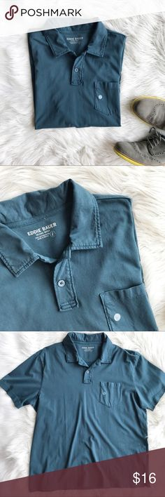 NWT Eddie Bauer Polo Shirt Soft cotton polo shirt in teal blue, NWT. Size large. Perfect for the office or on the weekends. Eddie Bauer Shirts Polos