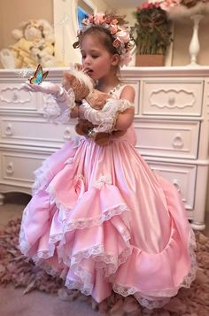 """""""Dreams Of Decadence""""... A Beautiful One Of A Kind Flower Girl Dress"""