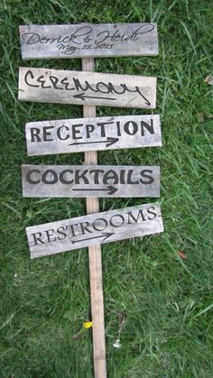Wooden  Wedding Sign by ReeeDesigns on Etsy, $40.00