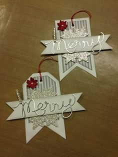 Merry Tag Stampin' Up!
