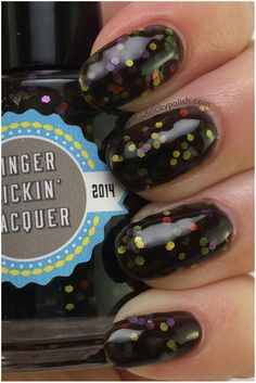 "Finger Lickin' Lacquer ""Spoopy"" - Swatched on one hand, $4"