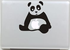 Panda4- Macbook decal Mac Vinyl decal Macbook Stickers Macbook skin Macbook Pro decal Apple mac decal for Macbook Air / Pro sticker. $6.99, via Etsy.