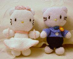 pareja de novios hello kitty crochet