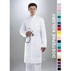 Fartuchy medyczne ze sklepu Dersa to połączenie funkcjonalności z modnym wyglądem. | Fartuch męski Hansa 2002 | odzież dla lekarza |