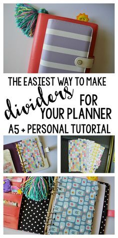 The Easiest Way to Make Planner Dividers for A5 or Personal Size- full tutorial!