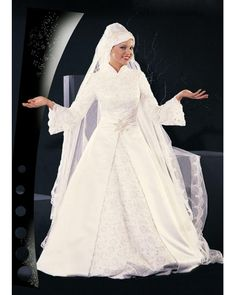 Robe blanche pour femme musulmane