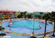 Hippy Dippy Pool at Disney's Pop Century Resort - a value resort at Walt Disney World in Orlando, FL.